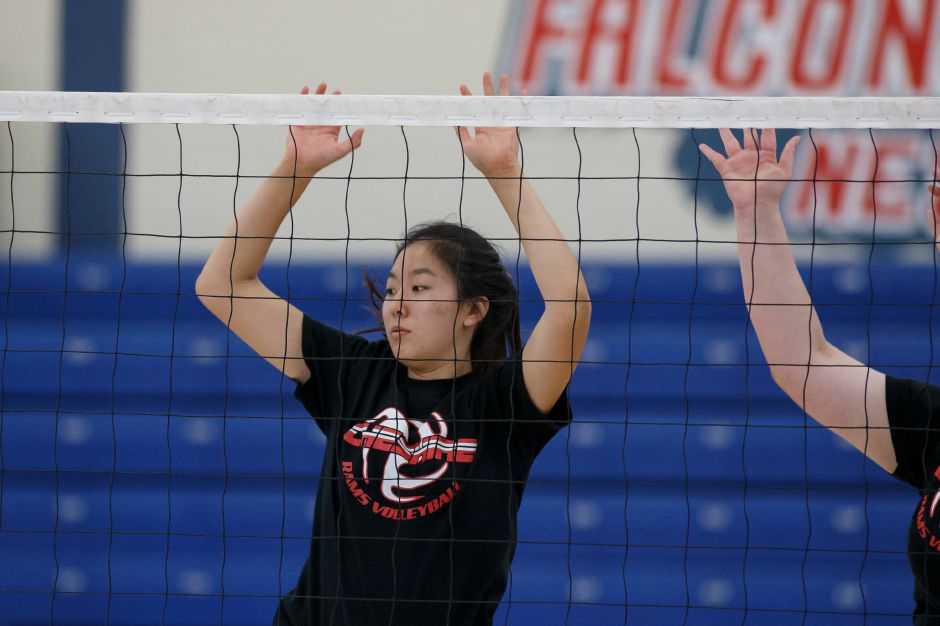 Jenny Wang is a returning senior opposite for the Cheshire Rams. | Justin Weekes / Special to the Record-Journal