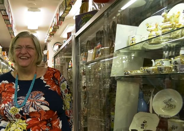 Ursula Vinke, museum docent, gives tours to the public of the Barker Character, Comic and Cartoon Museum, 1188 Highland Avenue, Cheshire. |Ashley Kus, Record-Journal