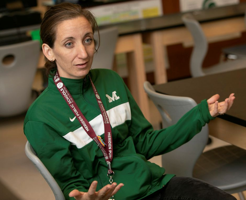 Maloney chemistry teacher Jennifer Ward talks at the school, Friday, Sept. 28, 2018. Ward was one of 13 teachers in New England that received the Nellie Mae Education Foundation's 2017 Lawrence W. O'Toole Teacher Leadership Award. Dave Zajac, Record-Journal