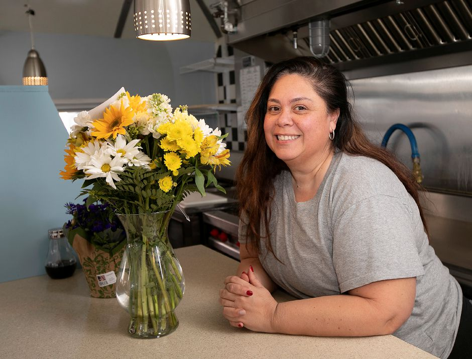 Melisa Gonzalez, of Meriden, is the owner of Mel's Diner, a new restaurant opening in March in the former Landmark Diner on West Main Street in Meriden. Dave Zajac, Record-Journal