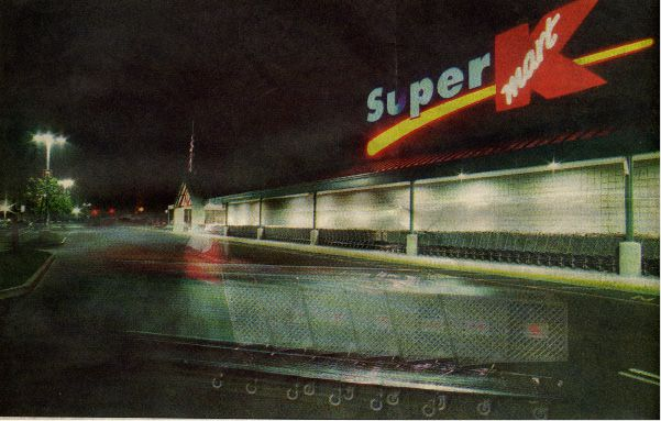 June 1996: Super K-Mart was the largest department/grocery store in central Connecticut, housing about 175,000 items and staying open
