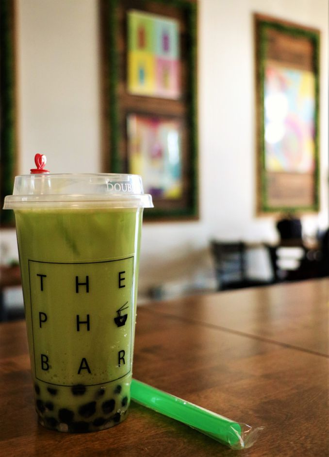 Honeydew-flavored bubble tea. The restaurant offers six more flavors. Nadya Korytnikova, Record-Journal.