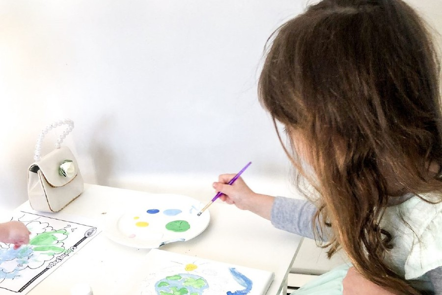 Painting activities and other crafts are great ways to teach kids about Earth Day. |Caitlin Houston, special to Record-Journal