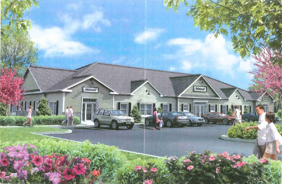 Rendering of a commercial building planned for a polluted factory site on North Main Street in Southington | Provided by Mark Lovley