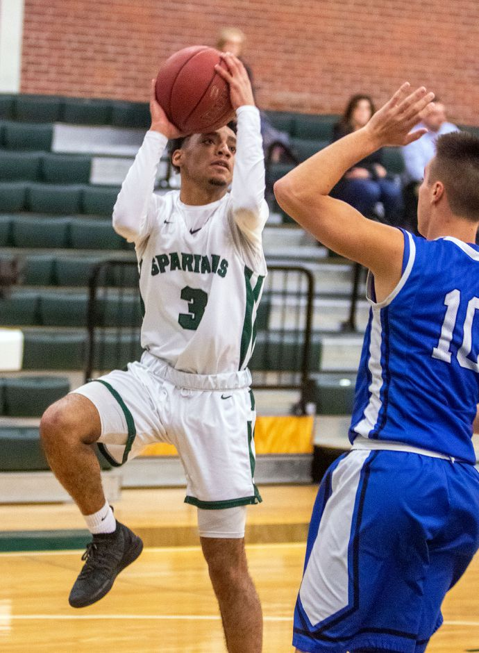 Junior point guard Vincent Martinez leads the Maloney Spartans into Friday night's rivalry game with Platt at Maloney. | Aaron Flaum, Record-Journal