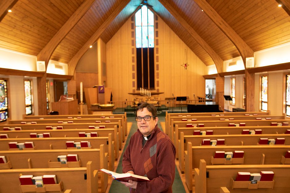 Pastor Jeff Stalley is the new pastor of Zion Lutheran Church on Woodruff Street in Southington Mon., Apr. 6, 2020. Dave Zajac, Record-Journal
