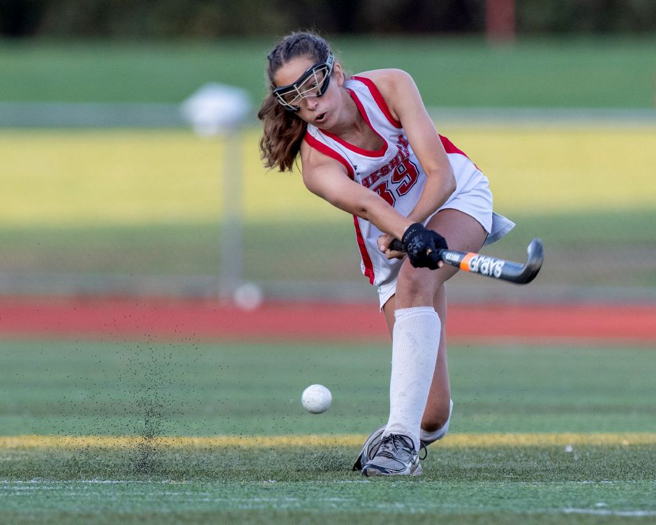 Last fall, Danielle Floyd received the Cheshire field hockey team's inaugural Unsung Hero Award. She's going on to play softball at Johnson & Wales in Providence, R.I. James Brandolini, Cheshire Herald