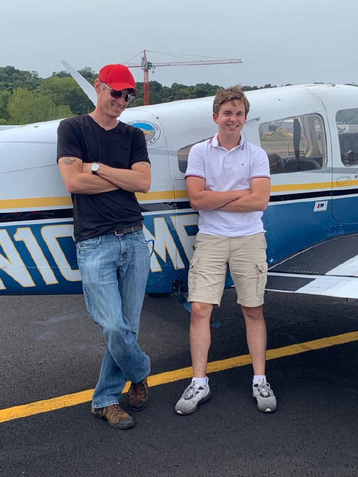 Bryce Weikrykas, 17, works to get his pilots license with Meriden Aviation Center.