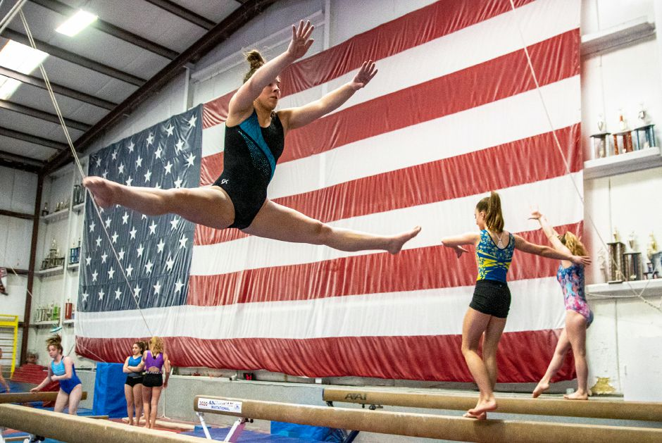 After playing a big role in the Southington High School gymnastics team's Class L and State Open championship season this winter, senior Kat Drechsler will compete in Acrobatics & Tumbling for Quinnipiac University. Aaron Flaum, Record-Journal