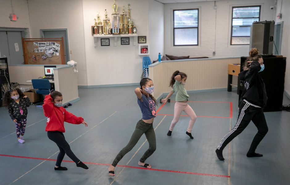 "Dance team members practice to the song ""Before You Go"" by Lewis Capaldi during dance class at Beat the Street Community Center in Meriden, Wed., Oct. 7, 2020. Dave Zajac, Record-Journal"
