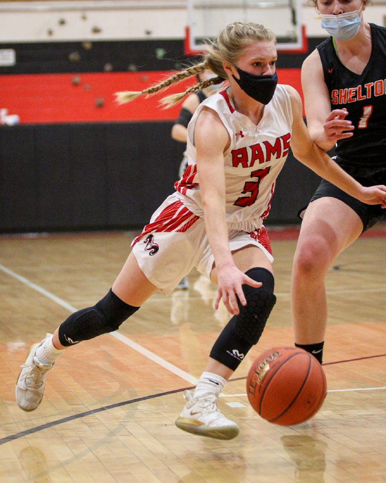 Grace Lurz made a marked difference when she was on the floor for the Cheshire Rams. The junior guard missed four games this year, yet still led the team with 12.6 points a game. James Brandolini, Cheshire Herald