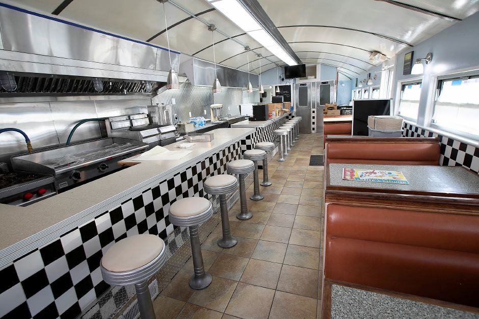 Interior view of The Landmark diner on West Main Street, Wed., Sept. 25, 2019. Samir Hassan, a Meriden native, will operate the 71-year-old eatery. The business is looking to open in mid-October. Dave Zajac, Record-Journal