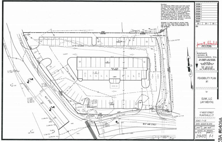 Plans for a building proposed for West Street in Southington | Southington Zoning Department