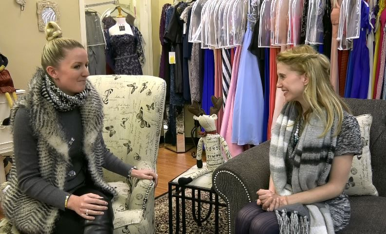 Record-Journal Digital Content Producer Ashley Kus chats with Kristen Langan-Gudaitis, owner of Dynamite Designs by Kristen, 1157 N. Colony Rd. |Ashley Kus, Record-Journal