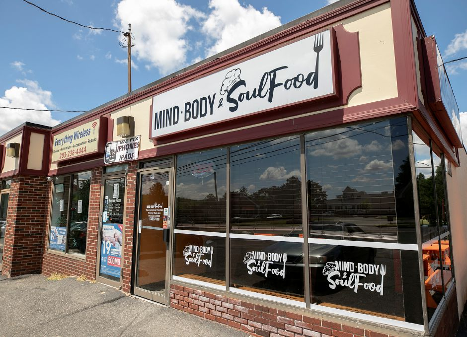 Mind, Body & Soul Food, 511 W. Main St., Meriden, Fri., Jun. 19, 2020. The new restaurant will serve mac-n-cheese, collard greens and chicken and waffles along with cheesesteak sandwiches, chilli dogs and tuna wrap. Dave Zajac, Record-Journal