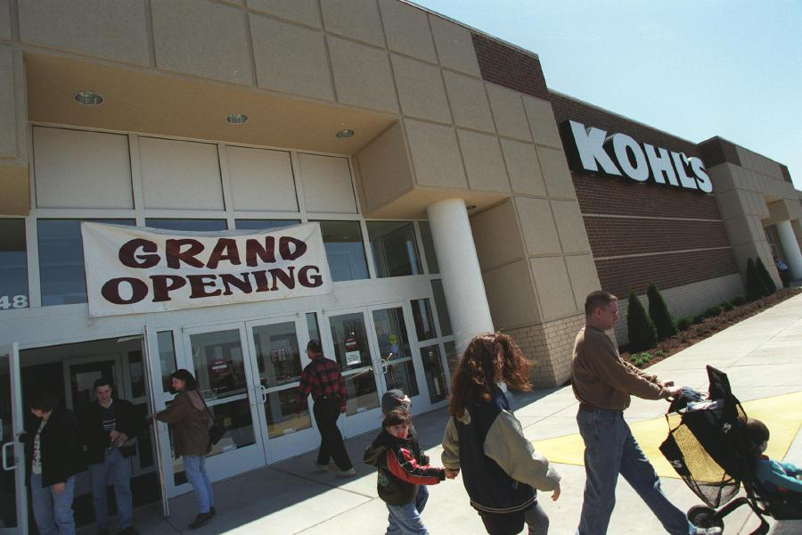 A steady stream of shoppers flowed through Kohl