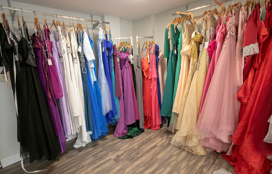Dresses for a variety of occasions designed by Jacqueline Torres, owner of Jacqueline Bridal Kouture.