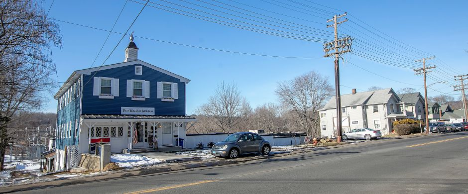 Fair Weather Antiques, 763 Hanover Road, Meriden. Local, state and federal agencies are investigating after a man was found dead in an apartment containing hazardous chemicals above the shop. Dave Zajac, Record-Journal.