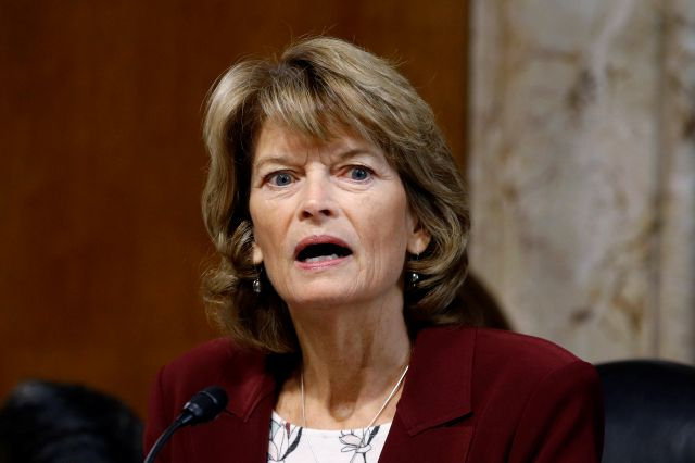 "FILE - In this Dec. 19, 2019 file photo, Sen. Lisa Murkowski, R-Alaska, chair of the Senate Energy and Natural Resources Committee, speaks during a hearing on the impact of wildfires on electric grid reliability on Capitol Hill in Washington.  Murkowski says she was ""disturbed"" to hear Senate Majority Leader Mitch McConnell say there would be ""total coordination"" between the White House and the Senate over the presidential impeachment trial. In an interview with KTUU, Murkowski said she remains undecided on how she would vote when the trial takes place. She was critical of the impeachment process in the House, describing it as rushed. But she said there should be distance between the Trump administration and the Senate on how the trial is conducted. (AP Photo/Patrick Semansky, File)"
