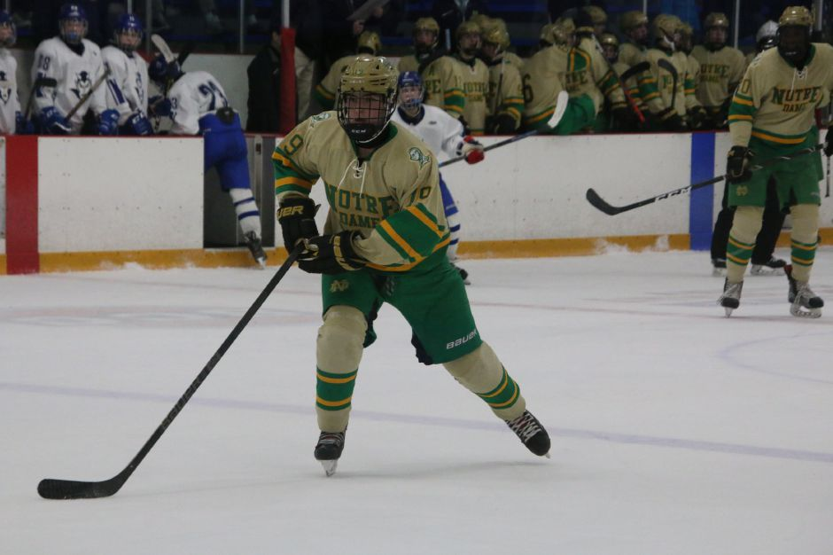 Southington's Bobby Allan has four goals and two assists as a second-line right winger for the Notre Dame-West Haven hockey team. The Green Knights are the state's top-ranked Division I team. It was for both a higher level of academic structure as well as a higher level of hockey that drew Allan, a junior, to the private school.