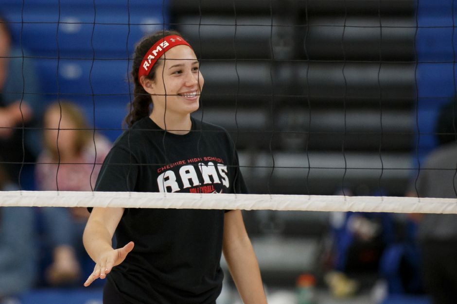 Junior outside hitter Lindsey Abramson returns to the Cheshire lineup after suffering an ACL tear late last season. Abramson was All-SCC Second Team and All-Record-Journal as a sophomore. | Justin Weekes / Special to the Record-Journal