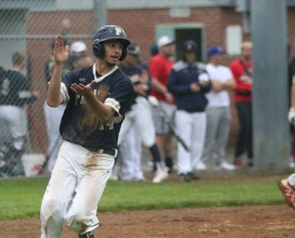 Andrew McCarty doubled and scored the game-winning run on Evan Avery's squeeze bunt in the bottom of the eighth inning Thursday night against Cheshire in a CT Elite Baseball Association matchup at Legion Field. The final score was 2-1. Record-Journal file photo