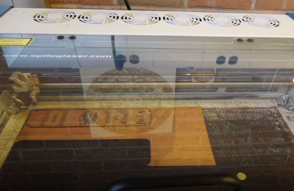 A laser cutter in the Collaboratory area at Wallingford Public Library, 200 North Main St., Wallingford. | Ashley Kus, Record-Journal