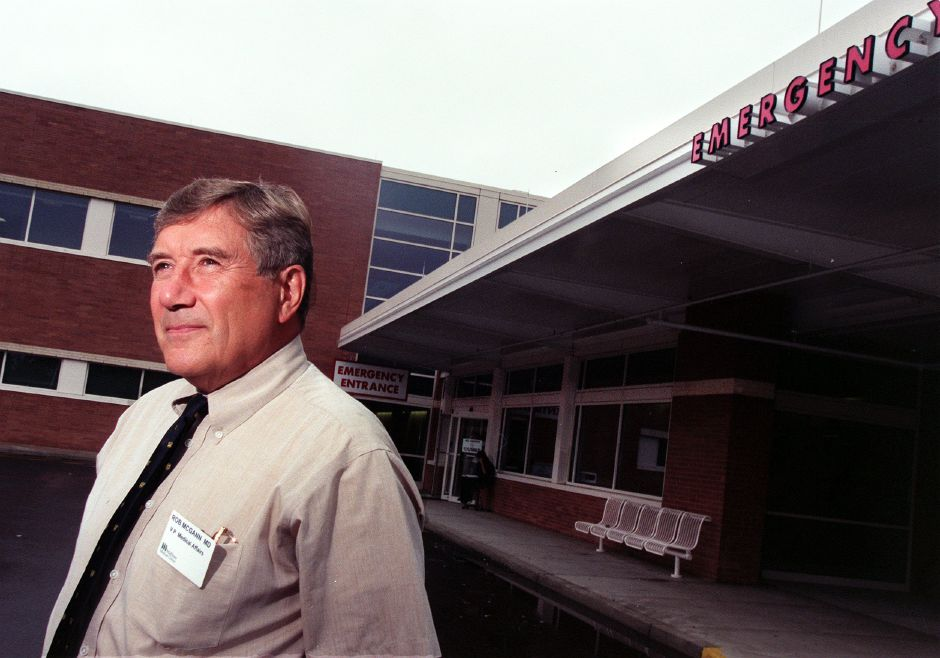 Dr. Rob McGann, V.P. of Medical Affairs at MidState Medical Center in Meriden Sept. 9, 1999.