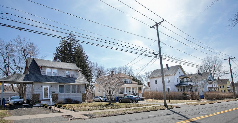 Homes on Gale Ave., in Meriden, Wed., Mar. 27, 2019. Some Gale Avenue neighbors have concerns over an approved retail development on Broad Street. The development will be behind the houses pictured. Dave Zajac, Record-Journal
