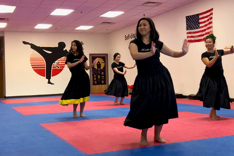 Advanced level hula dancers from Kaiholunuie Polynesian Dance Company. | Kristen Dearborn, special to the Record-Journal