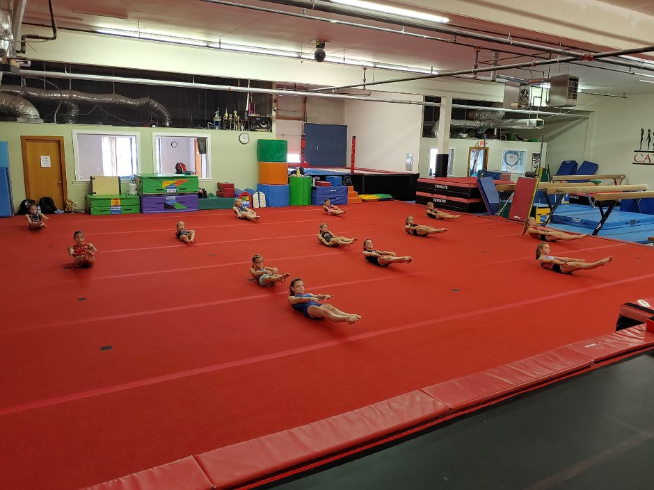 CATS Gymnastics reopened in June and is currently holding classes for recreational students as well as competition team members. John Rook/Cheshire Herald