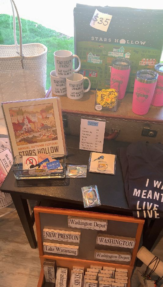 Stars Hollow Collectables (Five Janes, Washington Depot, CT), among the places in Connecticut to go inspired by the WB show Gilmore Girls. |Francesca Fontanez, special to the Record-Journal
