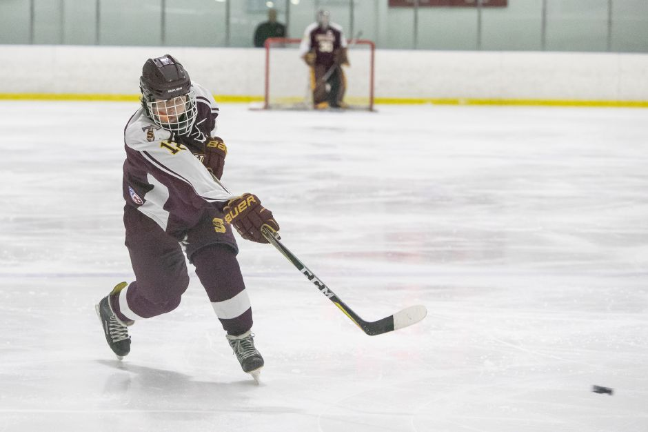 Brendan Connery had three assists in Sheehan's 6-3 Division III hockey victory over the Milford Co-op on Wednesday night at the Milford Ice Pavilion. | Record-Journal file photo