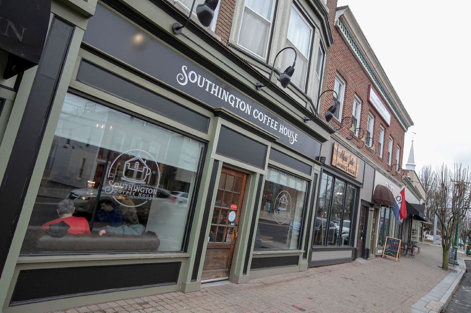 Southington Coffee House, 51 N. Main St., Southington, Wed., Feb. 26, 2020. Just six months after opening the downtown shop, Southington Coffee House is working on a West Street express location in a Sunoco Gas Station. Dave Zajac, Record-Journal