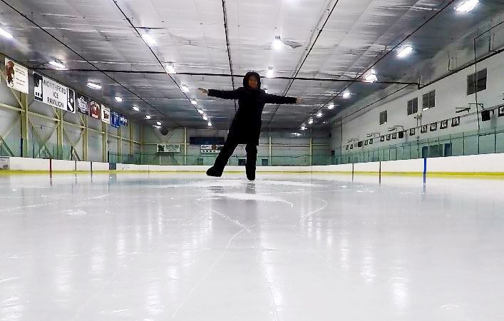 Ann Buccino-Katz, director of the Learn to Skate program, skates around at Northford Ice Pavilion, 24 Firelite Place, Northford, Thursday, Jan. 3, 2019. | Ashley Kus, Record-Journal