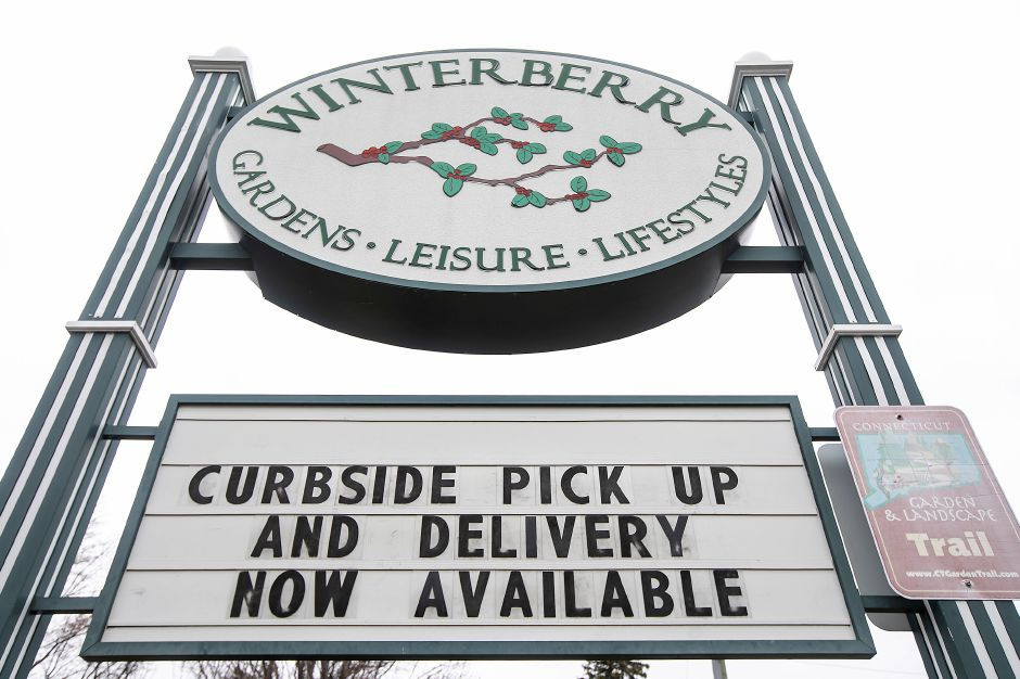 Winterberry Gardens in Southington offering curbside pickup and delivery, Wed., Mar. 25, 2020. Dave Zajac, Record-Journal