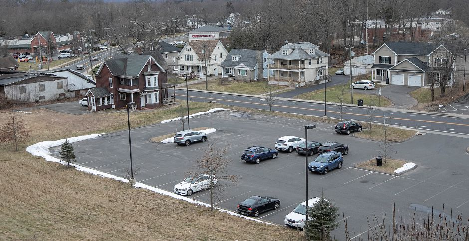 The Southington Public Library parking lot along Main Street, Wed., Feb. 5, 2020. Dave Zajac, Record-Journal