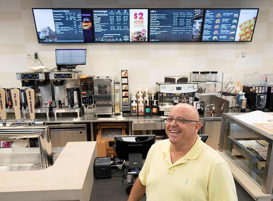 Manny Rocha, owner of the newly renovated Dunkin