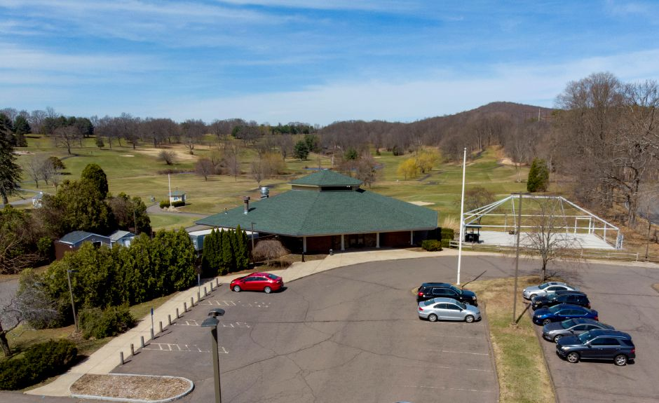 Hunter Golf Course in Meriden, with the building for Violi