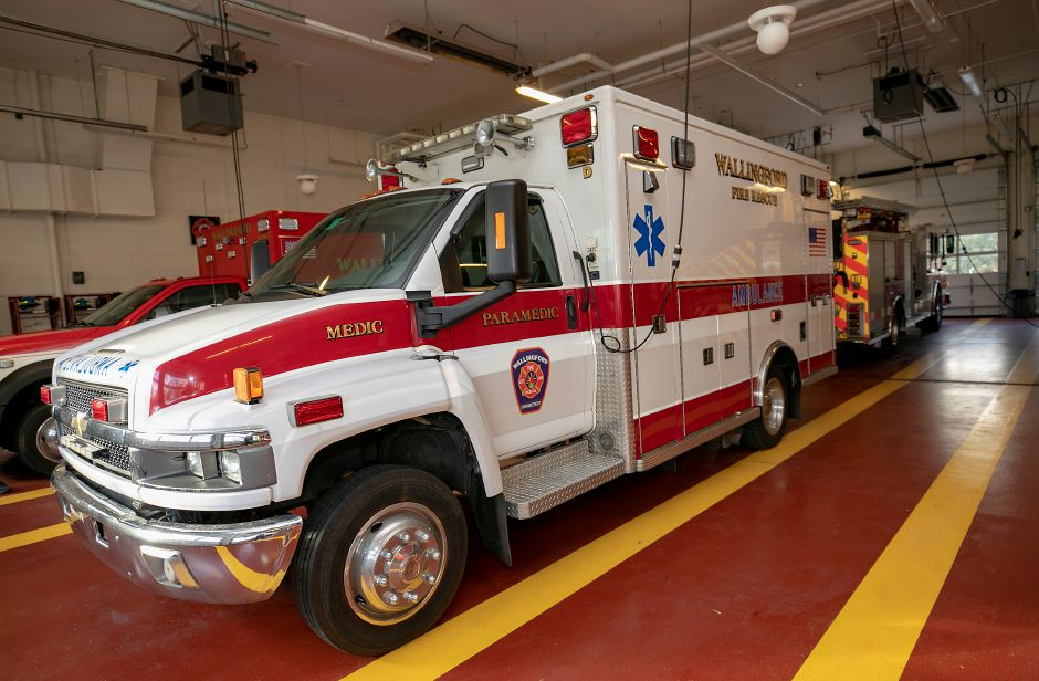 Ambulance 11 at North Farms Volunteer Fire Department Station 7 in Wallingford, Tues., Dec. 1, 2020. The fire department is hosting an emergency medical responder class next month aimed at recruiting new volunteers. Dave Zajac, Record-Journal