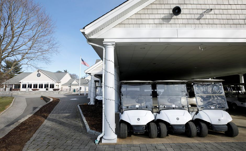 Carts parked under the pavilion at Southington Country Club, Mon., Jan. 25, 2021. Town officials are considering a development rights purchase for Southington Country Club, a 4.5 million deal that would prevent housing construction on the 90-acre golf course. Dave Zajac, Record-Journal