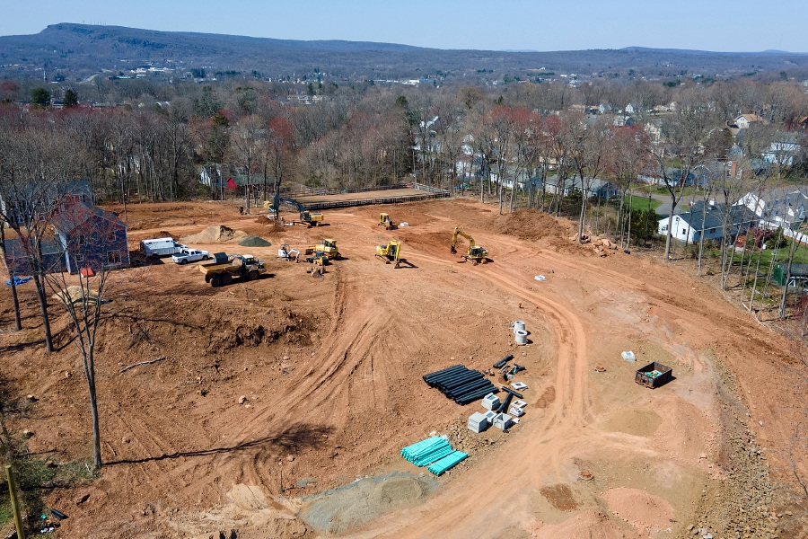 Construction continues on a 13-lot subdivision at the end of Williams and Genest streets in Meriden on April 5. Dave Zajac, Record-Journal