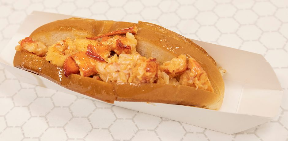 A lobster roll at Spoonshoppe Brooke Deli, 1320 E. Main St., Meriden. Dave Zajac, Record-Journal