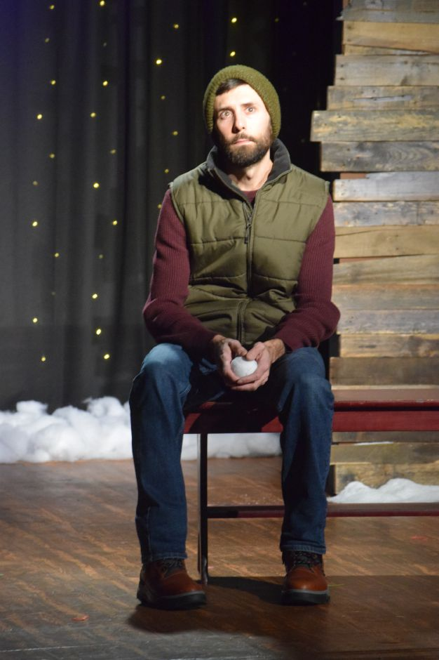 "Jamie Reopell rehearses for the Castle Craig Players latest production, ""Almost, Maine,"" on Thursday, Nov. 7, 2019. The play opens Nov. 8 and runs through Nov. 17 in Meriden. 