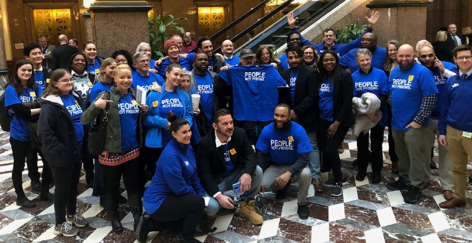ACLU of Connecticut Smart Justice supporters gathered at the Capitol to support criminal justice reform bills during the 2019 legislative session.