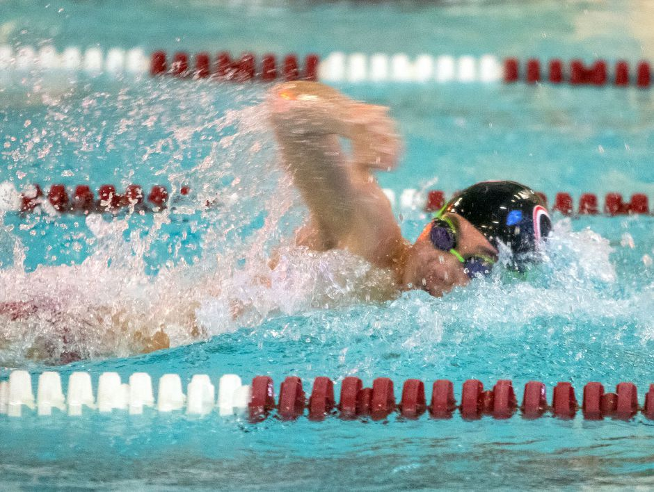 Junior Harrison Hua was Cheshire's leading swimmer in the 200 individual medley. He placed third in the SCC in the event. Hua also swam a leg on Cheshire's 400 freestyle relay, which was second in the SCC.  Aaron Flaum, Record-Journal