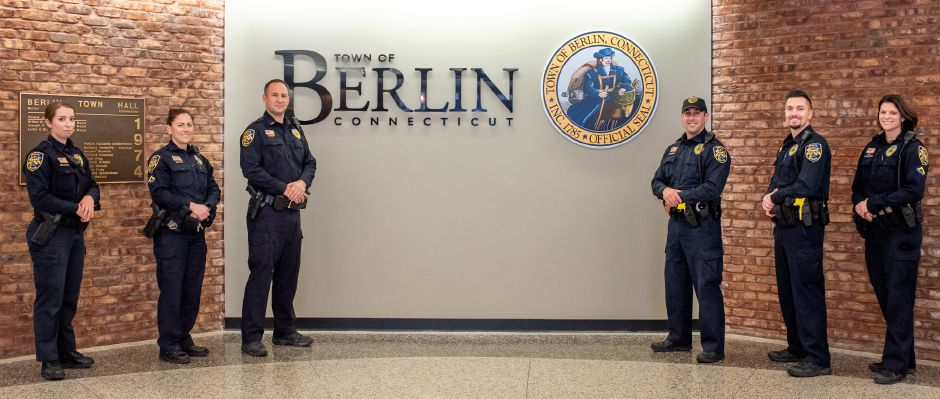 The Berlin Police Department recently announce creation of its new Community Relations Team. It will be commanded by Lieutenant Shawn Solek and coordinated by Officer Brandon Lagueux. From left to right: Ofc. Isabella Delgado, Ofc. Cathy Griffin, Lt. Shawn Solek, Ofc. Brandon Lagueux, Ofc. Kevin Chaffee, Ofc. Aimee Krzykowski.  | Courtesy of Berlin Police Department