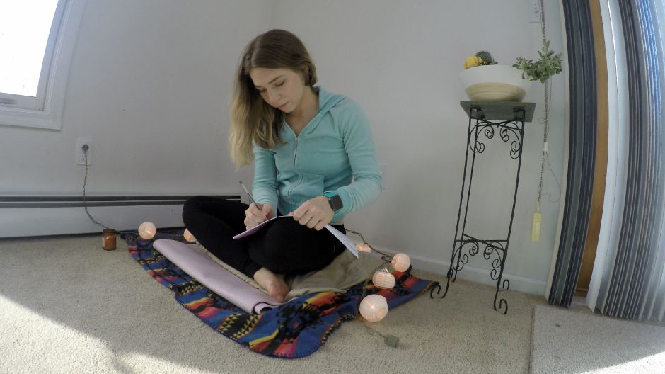 Kristen Dearborn uses a meditation journal to track her progress. Kristen Dearborn, special to the Record-Journal.