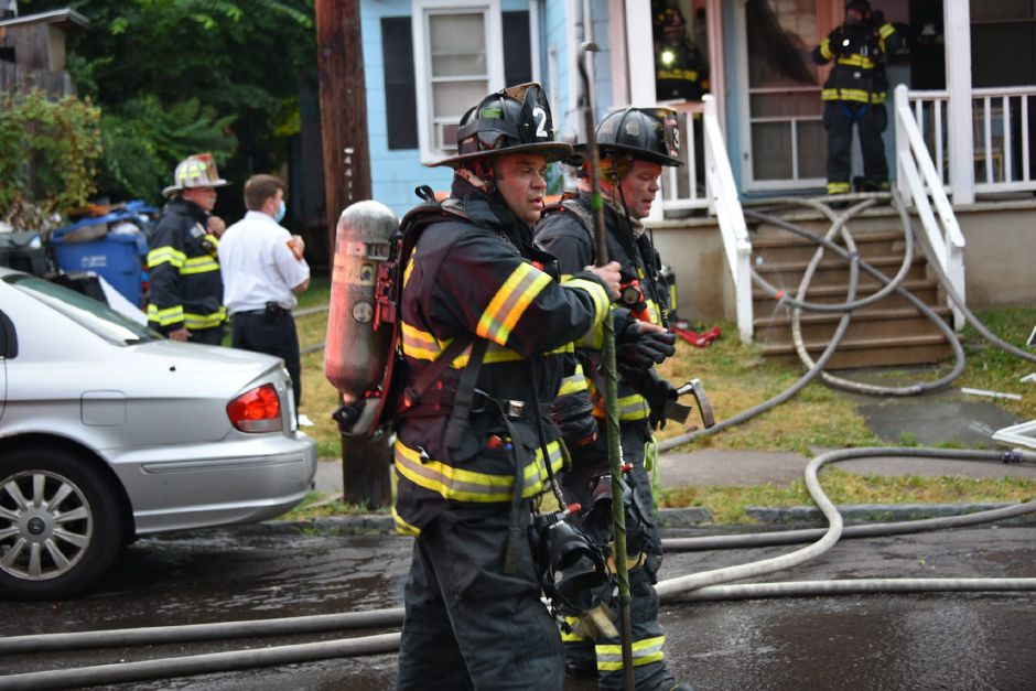 Meriden fire crews respond to a house fire at 8 Jackson Street on Sunday, June 28, 2020. | Photo Courtesy Michael Quinn, Connecticut Fire Photographers