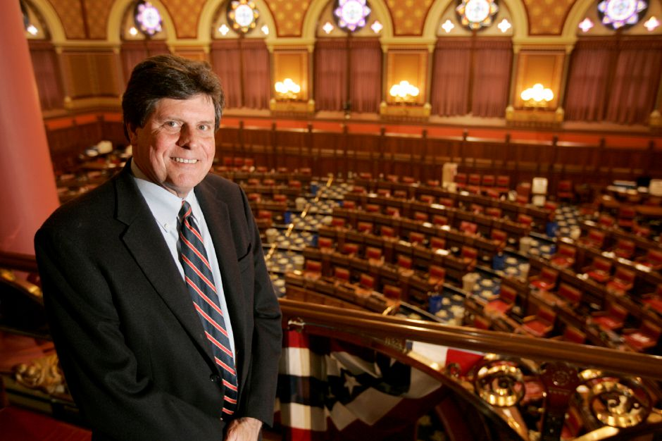 "3.26.09 - Connecticut State Representative, Emil ""buddy"" Altobello, Deputy Speaker stands in the Capital Building in Hartford Connecticut where Rep. Altobello gave the Record-Journal a guided tour of the building."